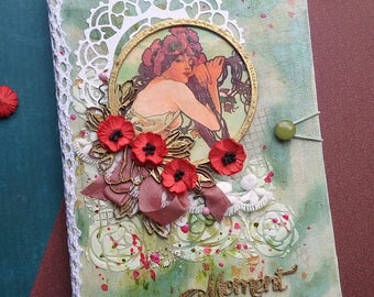 Mixed Media Journal, Handmade Journal, Notebooks, Art Journal
