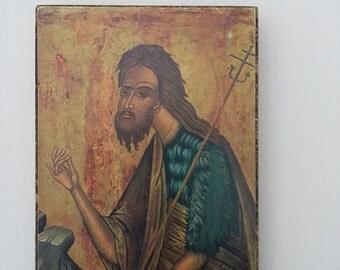 Vintage Orthadox Art Religious Print Byzantine Icon