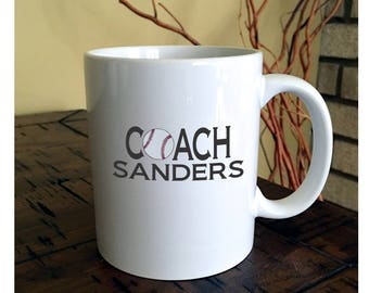 Baseball, Football or Hockey Coach Coffee Mug | Athletic Coach Mugs | Gift Mugs for Coaches