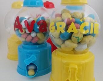 Gumball Machine, Gum ball machine, Mini Gumball Machine, Candy Jar, Monogrammed Gifts, Monogram, Monogram Decal, Gumballs, Personalized Gift