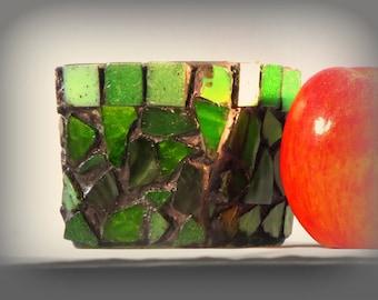 Green Mosaic Votive
