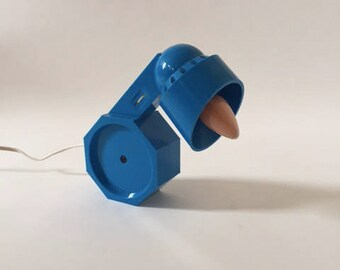 Modern Table Lamp   Memphis Blue Plastic