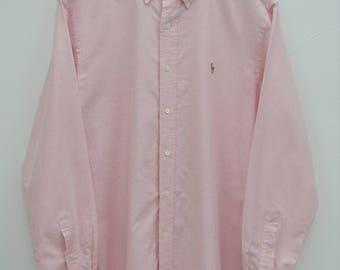 POLO RALPH LAUREN Shirt Vintage Polo Ralph Lauren Button Down Shirt Size 16-34