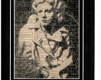 Jean Harlow dictionary paper art