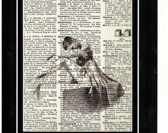 288 Dancer collapsed vintage paper Picture