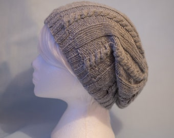 Cable Slouch Beanie