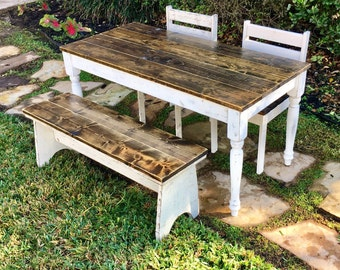 46.5 In Kids Table With Chairs And/or Bench