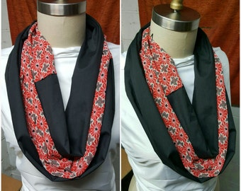 Black Ruby Infinity Scarf