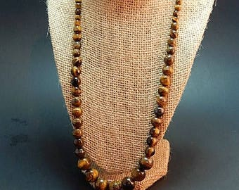 tigereye necklace 23. inch