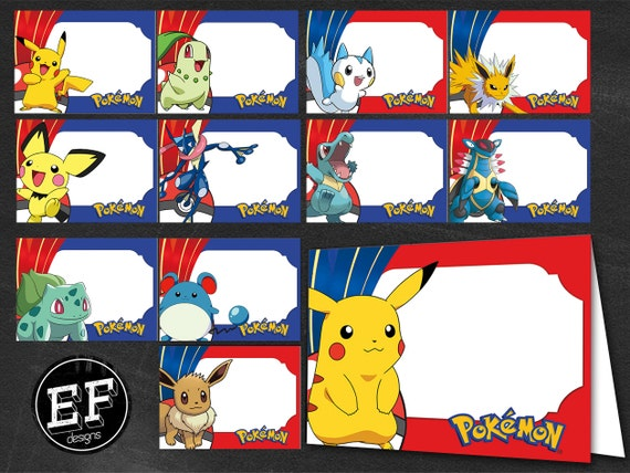 Free Pokemon Food Labels