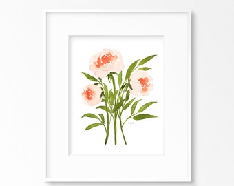 Three Peonies INSTANT DOWNLOAD