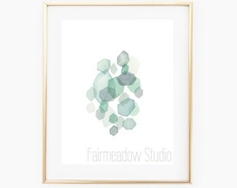 Sea Glass Watercolor - INSTANT DOWNLOAD
