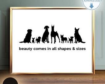 Dog Wall Decor dog wall art | etsy