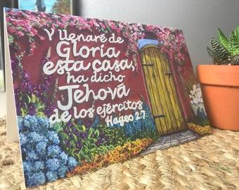 Spanish verse card, Spanish Christian,  spanish style art, Hispanic card, mexican card, blank greeting card, spanish mission,