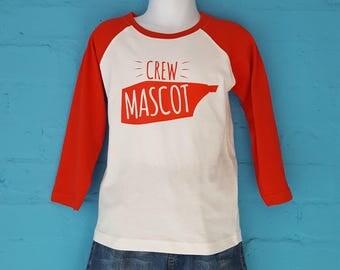 Crew Mascot  - Kids - Baseball style Tee