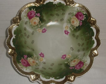 RESERVED...Vintage Serving Bowl.  Unmarked.  Germany?  R.S. Prussia?