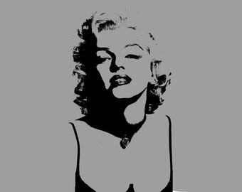 Marilyn Monroe Stencil-- Reusable