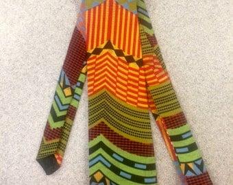 Multicoloured African Fabric Tie