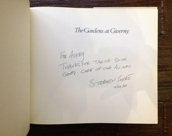 Signed Stephen Shore The Gardens at Giverny photobook