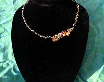 Beaded Faerie Dust Necklace (amber)