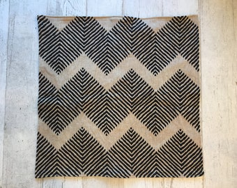 Decorative Pillows, Black and Beige Pillow with Geometric Pattern, 24 x 24, insert included