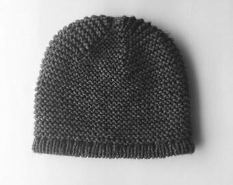 Hand Knitted Winter Hat // Handmade Beanie Cap // Warm Knit Kids Hat