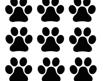 50 dog/puppy paw prints - Decal stickers