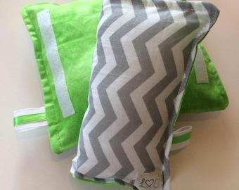 Cover straps to chevron / gray / green