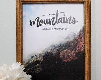 Mountains Print - 8inx10in