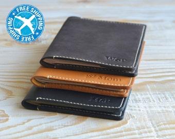 Leather passport cover-passport holder-personalized passport covers-leather passport holder-passport case-travel wallet-passport wallet.