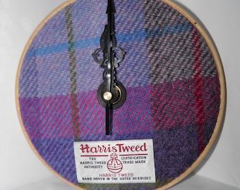 """Harris Tweed Wall Clock 6"""""""