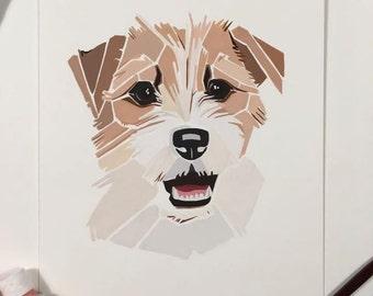Pet Portrait , Custom Portrait, Pet, Artwork , Dog portrait Australia , Painting, Watercolour dog  artwork pet animal