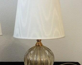 glass sphere-Venetian gold lamp