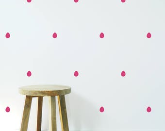RAIN DROPS Pattern wall STICKER, Removable Decal, Made in Australia