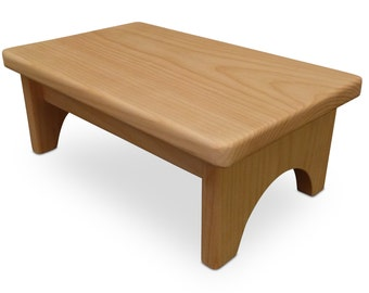 HollandCraft - Unfinished Wood Step Stool Wooden Foot Stool Bed Step Stool Beside Stool Potty Stool