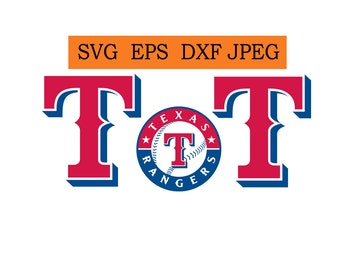 Texas Rangers logo in SVG / Eps / Dxf / Jpg files INSTANT DOWNLOAD!