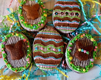Rustic Chocolate Easter Egg Cookies