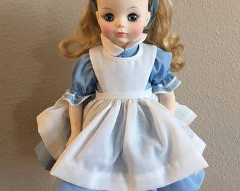 Vintage Alice in Wonderland Doll by Madam Alexander- 1980's Madam Alexander Collection Doll