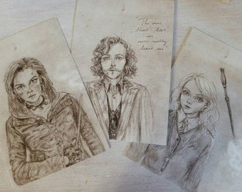 Chose your wizard!- 4x6 Harry Potter characters prints