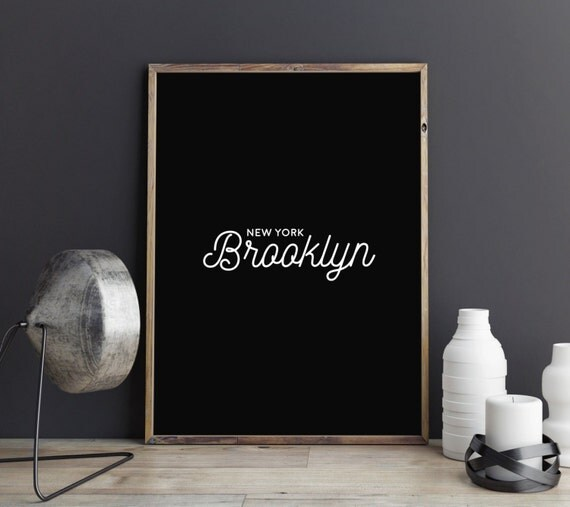 Items similar to brooklyn print typography print new for Best selling home decor etsy