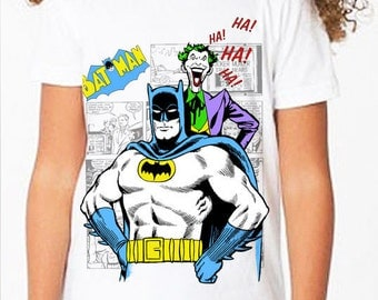 Batman: Classic Batman & Joker Comic Book Children's T Shirt