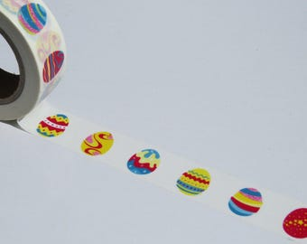 Colourful Eggs Washi Masking Tape - Pretty & Bright Eggs Themed Tape