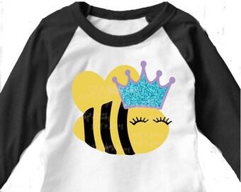 Queen Bee svg, Principal svg, Teacher svg, Bumble Bee svg, SVG, DXF, Bee birthday, birthday shirt, Birthday Girl svg, Bachelorette, bride