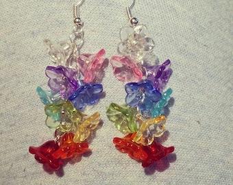 ON SALE! 50% OFF! Flower Rainbow Earrings