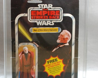 Vintage Star Wars Obi-Wan Kenobi Action Figure on 21 Card Back (Empire Strikes Back) by Kenner