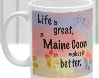 Maine Coon cat mug, Maine Coon cat gift, ideal present for cat lover