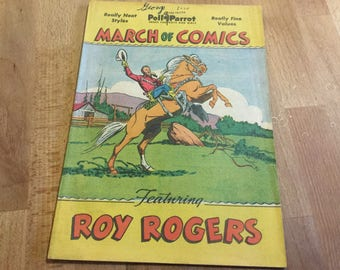 March Of Comics Roy Rogers #47 poll parrot 1949 great shape sixty eight years old