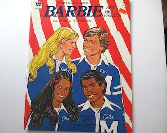 Barbie Paper Dolls-All Sports Tournament-Vintage Paper Dolls 1975, Barbie Doll, Paper Dolls, Vintage Paper Dolls