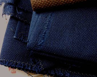 Brittney/Lugana - 28-count, Navy blue, 28 tpi, navy evenweave, cotton and rayon, 12x13 inches, Zweigart