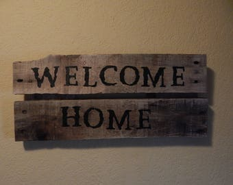 "Home Deoor- ""Welcome Home""- Hand Painted"